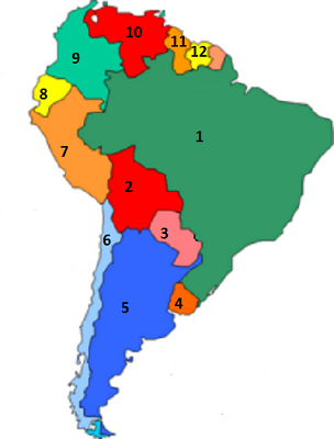 South America Fill In The Blank Map Quiz